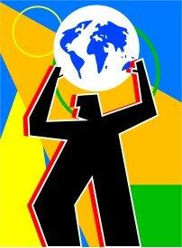 Homme soulevant la terre